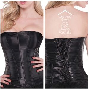 👹FREE Crotchless thongs with purchase BLK Corset